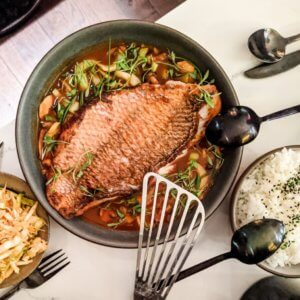 Vis met groenten